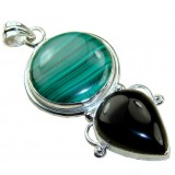 Onyx Silver Pendant