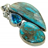 Kaylie Sterling Silver Turquoise  Pendant