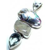 Quartz Silver Pendant