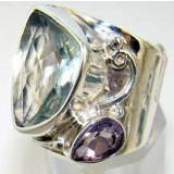 Jane Sterling Silver Amethyst  Ring