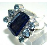 Gloria Sterling Silver Lapis  Ring
