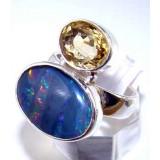 Gabriella Sterling Silver Opal  Ring