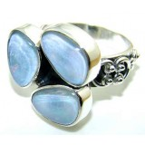 Kara Sterling Silver Opal  Ring