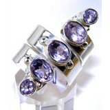 Anastasia Sterling Silver Amethyst  Ring