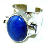 Marisol Sterling Silver Lapis  Ring