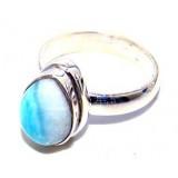 Elisa Sterling Silver Larimar Ring