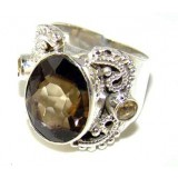 Kailynn Sterling Silver Quartz  Ring