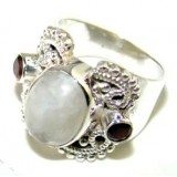 Harper Sterling Silver Moonstone  Ring