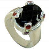 Hailee Sterling Silver Onyx  Ring