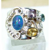 Miriam Sterling Silver Opal  Ring