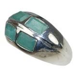 Kelly Sterling Silver Jade  Ring