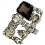 Diya Sterling Silver Quartz  Ring