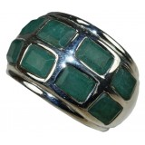 Karina Sterling Silver Jade  Ring