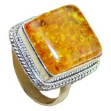 Carmen Sterling Silver Amber Ring