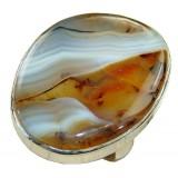 Maliyah Sterling Silver Amber Ring