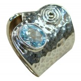 Ainsley Sterling Silver Topaz  Ring