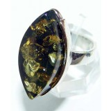 Nevaeh Sterling Silver Amber  Ring