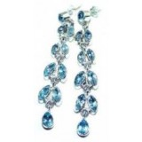 Topaz Silver Earrings