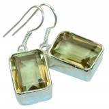 Quartz Silver Earrings