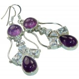 Gianna Sterling Silver Amethyst  Earrings