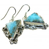 Morgan Sterling Silver Larimar  Earrings