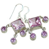 Lauren Sterling Silver Topaz  Earrings
