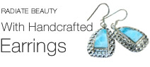 925 sterling silver larimar earrings