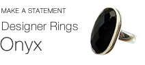 925 sterling silver onyx ring