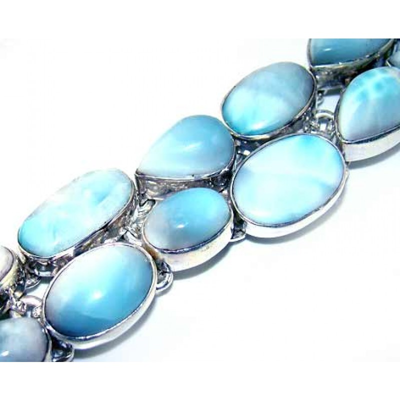 More Views Larimar Silver Bracelet