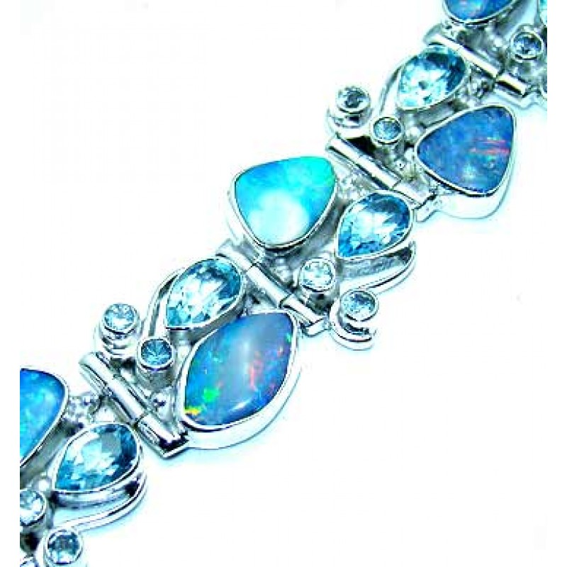 Lola Sterling Silver Topaz Bracelet Bracelet With Blue