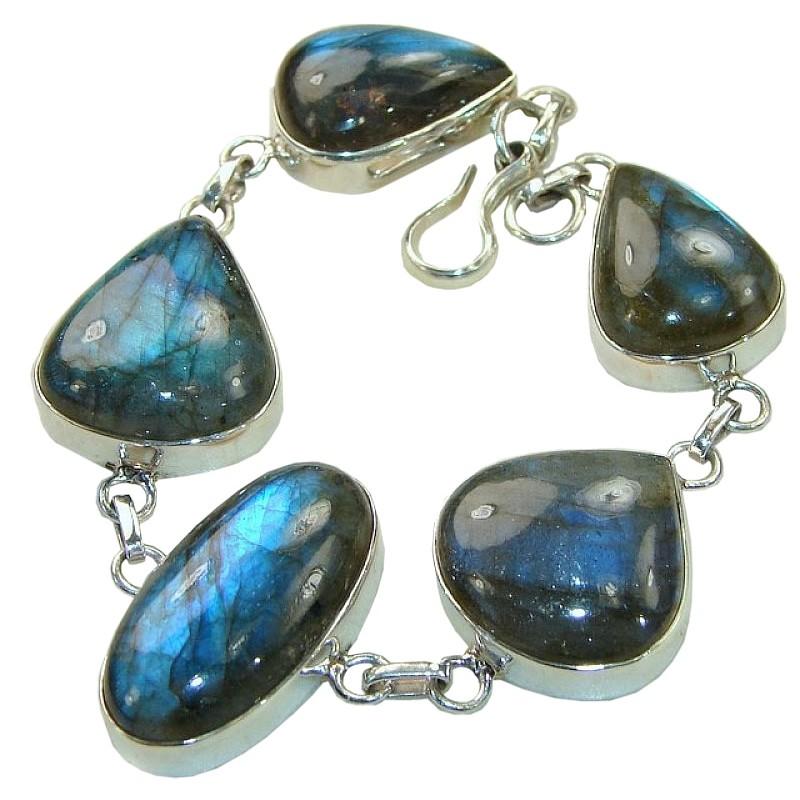 sterling silver Labradorite bracelet