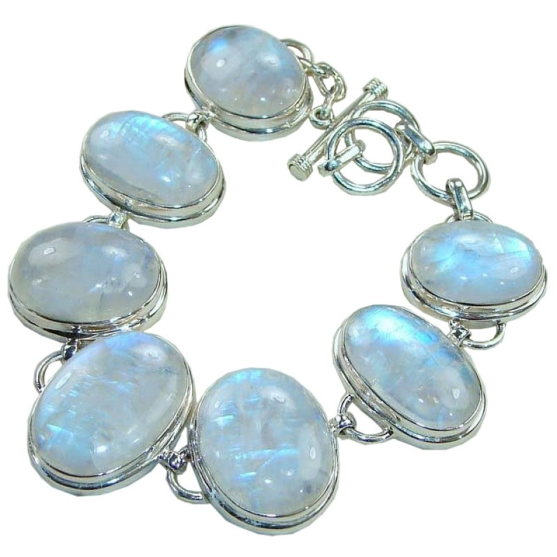 More Views Moonstone Silver Bracelet