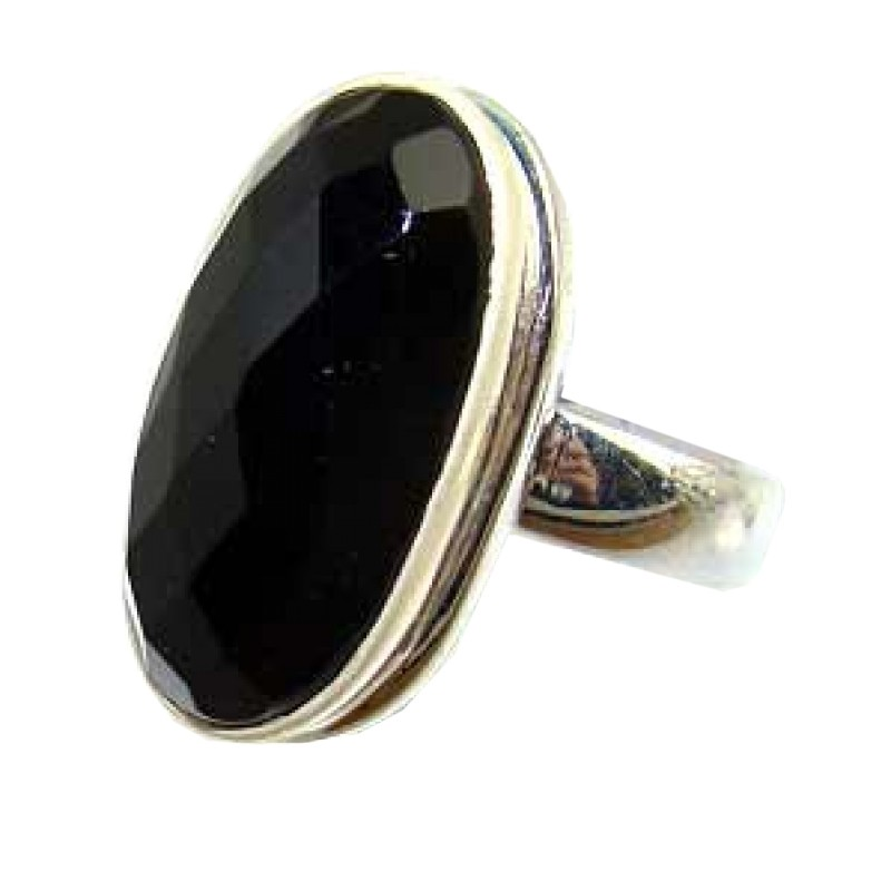 Amani Sterling Silver Onyx Ring Ring With Onyx Gemstone