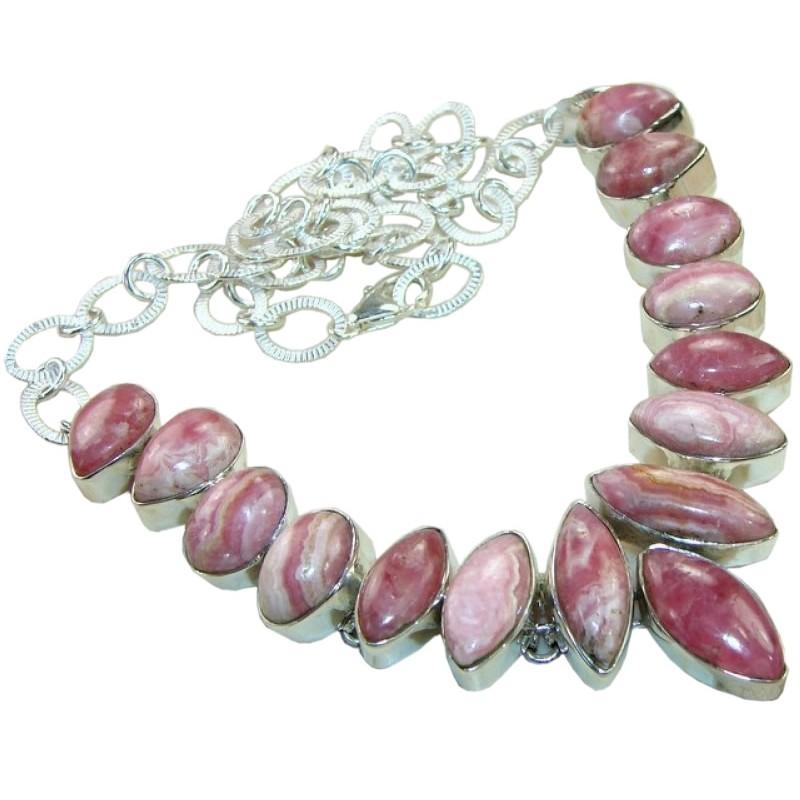 Adrianna sterling silver rhodochrosite necklace necklace with more views rhodochrosite silver necklace aloadofball Gallery