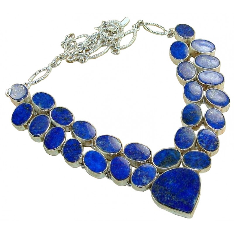 gold and lazuli lapis zolotas necklace