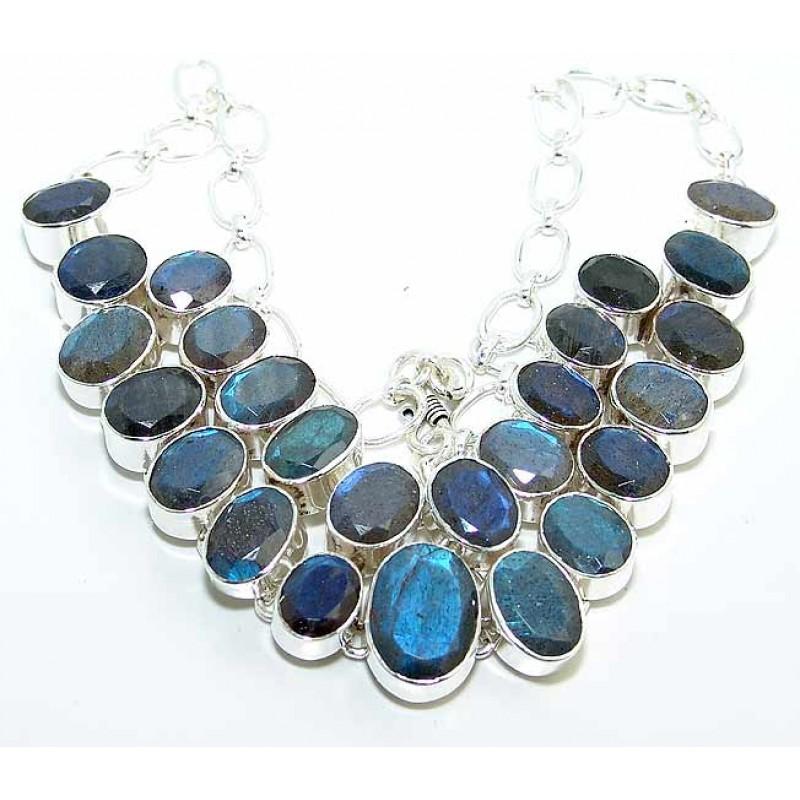 Audrianna Sterling Silver Labradorite Necklace 925