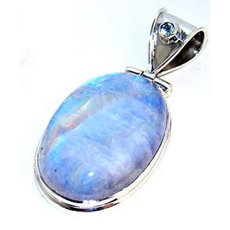 3d64533f178 Skye Sterling Silver Moonstone Pendant | Silver Pendant with Rainbow ...