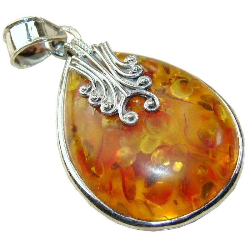 sterling classic drop chain quot genuine certificate and ian silver necklace dp pendant amazon valeri co amber com