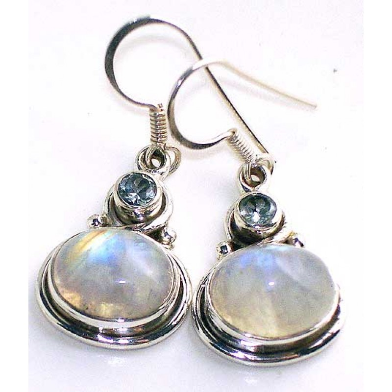 earrings shop rainbow moonstone jewellery silver square stone sterling moon