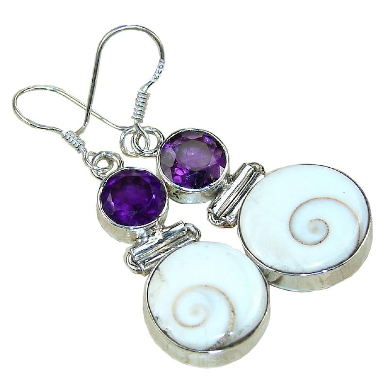 More Views Gemstone Silver Earrings