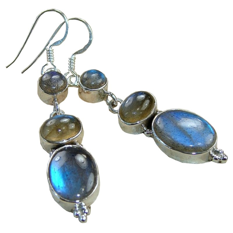 deanna sterling silver labradorite earrings earrings  labradorite gemstone south  exotic