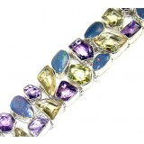 Kyleigh Sterling Silver Quartz  Bracelet