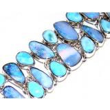 Alexia Sterling Silver Larimar  Bracelet