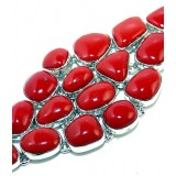Erin Sterling Silver Coral  Bracelet