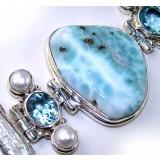 Cecilia Sterling Silver Topaz  Bracelet