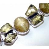 Shania Sterling Silver Quartz  Bracelet