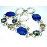 Audrina Sterling Silver Lapis  Bracelet