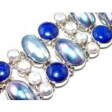 Lilliana Sterling Silver Lapis  Bracelet