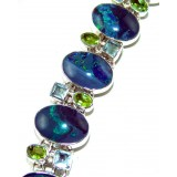 Luz Sterling Silver Topaz  Bracelet