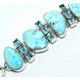 Kayleigh Sterling Silver Topaz  Bracelet